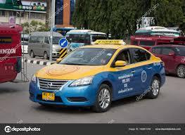 nissan tsuru taxi grab taxi meter chiangmai nissan sylphy stock editorial photo