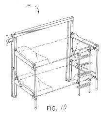 patent us20050217021 folding bunk bed google patents