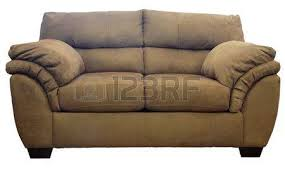 Plush Sofa Bed Brown Micro Suede Plush Sofa Stock Photo Picture And Royalty Free