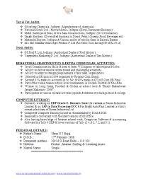 Sample Resume For Ca Articleship Training Stunning Sample Resume For Ca Articleship Training Gallery