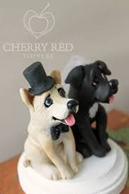 dog wedding cake toppers customized dog wedding cake topper personalized polymer clay pet