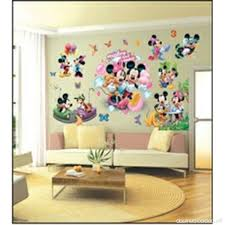 chambre mickey mouse enfants stickers muraux grand disney mickey mouse minnie