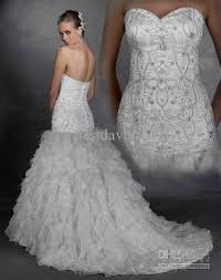 mermaid wedding dress with bling naf dresses