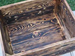 hand crafted medium wood crate stackable made from reclaimed wood