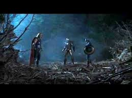 the avengers thor s hammer hits captain america s shield youtube