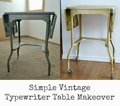 How To Paint A Table Going For Gold How To Paint A Vintage Typewriter Table Dans Le