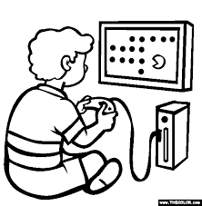 the game console coloring page free the game console