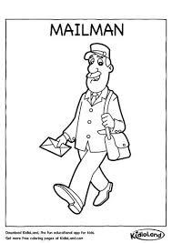 mailman hat coloring page free printables worksheets for your kids kidloland