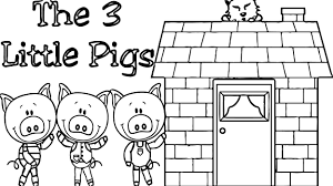 3 little pigs house coloring page wecoloringpage