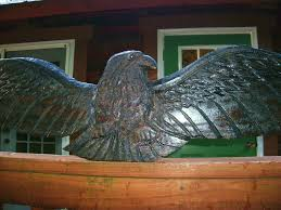 eagle home decor cast iron vintage look american eagle 50 chainsaw wood