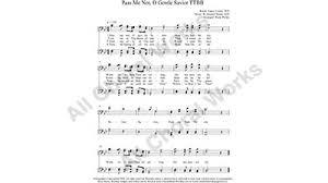 pass me not o gentle savior choir sheet ttbb 4 part