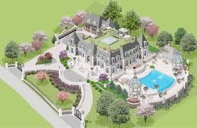 french chateau floor plans los altos hills california chateau
