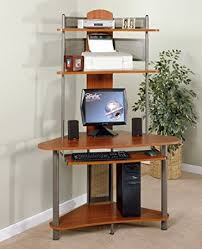 Computer Desk Amazon by Amazon Com A Tower Corner Wood Computer Desk With Hutch In Pewter