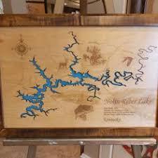 lake patoka indiana wooden laser engraved lake map wall hanging