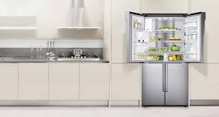 loge tout cuisine rf23j9011sr réfrigérateur de 22 5 pi à portes françaises avec