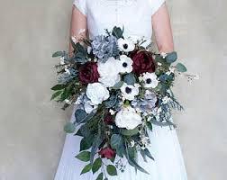 white bouquet silk bridal bouquet etsy