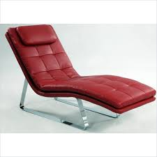 Leather Chaise Lounge Corvette Red Bonded Leather Chaise Lounge With Chrome Legs With
