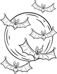 free printable halloween bats coloring kids 1