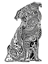 difficult little buldog animals coloring pages for adults