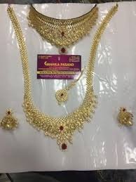 bridal set for rent bridal imitation necklace set on rent at rs 2000 set hanumantha