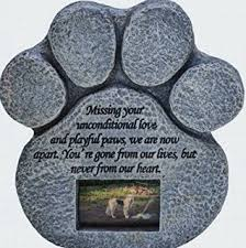 In Memory Of Gifts Personalised Amazon Com Paw Print Pet Outdoor Memorial Stone With 2