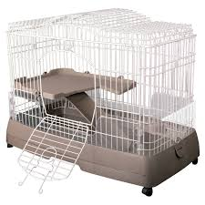 All Living Things Luxury Rat Pet Home by Ware Clean Living 2 Level Small Animal Cage Small Animal Cages