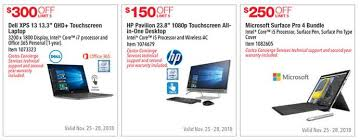 costco black friday ad leaks with numerous laptop desktop tablet