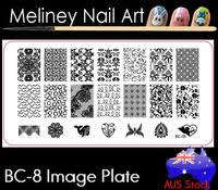 square image plate 08 meliney nail art supplies