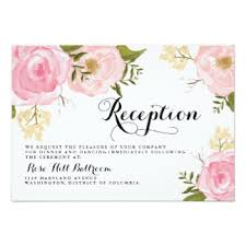 wedding reception invitation wedding invitation create online rectangle landscape white pink