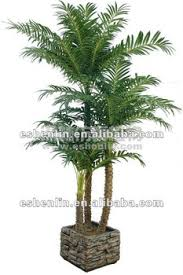 wholesale silk trees and plants indoor potted palm tree in china