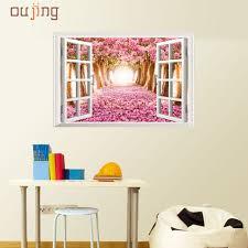 online get cheap cherry blossom wall art stickers aliexpress com fashion heaven 60cm 90cm 3d window cherry blossom tree art home decor wall sticker wall
