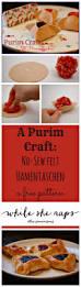 easy purim craft no sew felt hamentaschen whileshenaps com