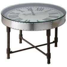 Clock Coffee Table Uttermost 24321 Cassem Clock Table Kitchen Dining