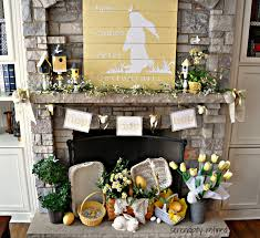 awesome easter mantel decorating ideas 95 for your simple design
