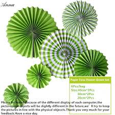 cheap paper fans 6pcs green cheap paper fans for wedding tissue paper fans flowers