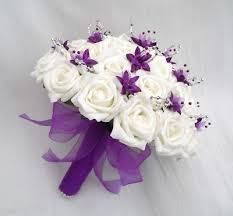 wedding flowers bouquet purple wedding bouquet ipunya