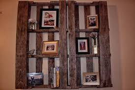Making Wooden Shelves For Storage by Diy Wooden Pallet Shelves With Storage Pallet Furniture Ideas