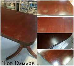 duncan phyfe dining table repair refinish for the mcbrayer family brandi table collage 4