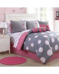 Grey Twin Bedding Fall Into This Deal On Sophie 8 Piece Twin Comforter Set In Pink Grey