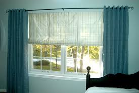 Roman Shade With Curtains Custom Couture For The Home Draperies