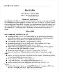 Qualifications On Resume Examples by Summary Resume Examples Professional Skills Summary Resume In Pdf