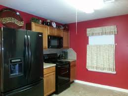 Black And Red Kitchen Ideas Fantastic Kitchen Ideas With Cool Red Wall Color And Black Big