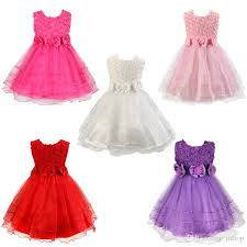 flower bow flower bow tie princess party dress tulle wedding