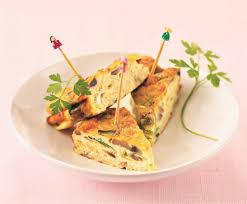 recette de cuisine italienne recette frittata aux poireaux et chignons