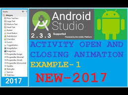android start activity android studio tutorial android start activity animation left to