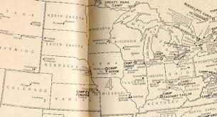 Wisconsin On Us Map by Maps Related To World War I Including Military Map Of The United