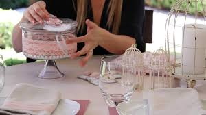 Baby Shower Centerpieces Ideas by How To Decorate A Pink Elegant Baby Shower Crafting Ideas Youtube