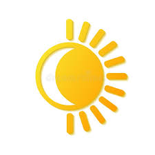 sun and moon symbol logo stock vector illustration stock vector