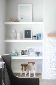 styling floating shelves with minted art u0026 neutral accessories via