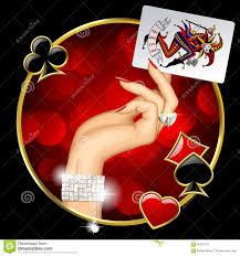 Joker Playing Card Designs Female Hand With Joker Playing Card Stock Vector Image 65339176